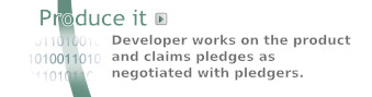 Code It -- Developer writes software and claims the pledges, if the pledgers agree by vote